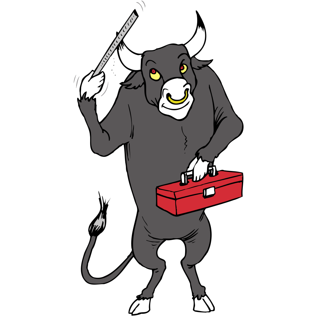 Bull With Tool Box SVG Clip arts