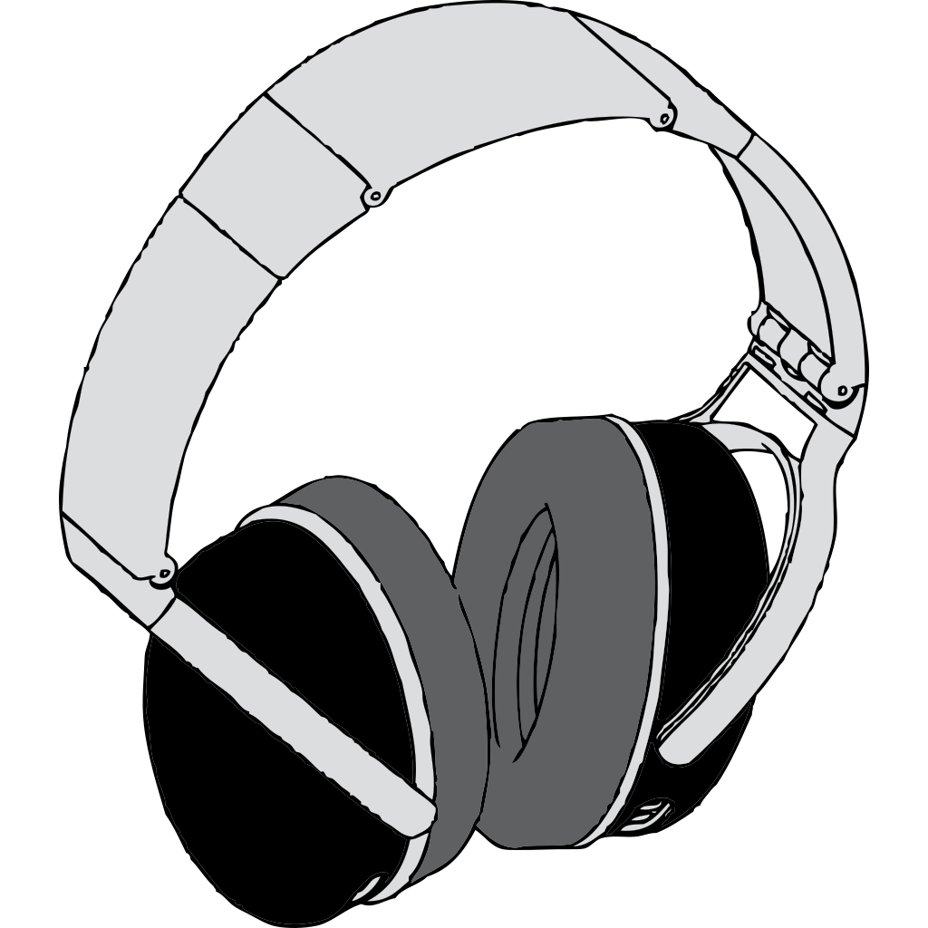 Headphones SVG Clip arts