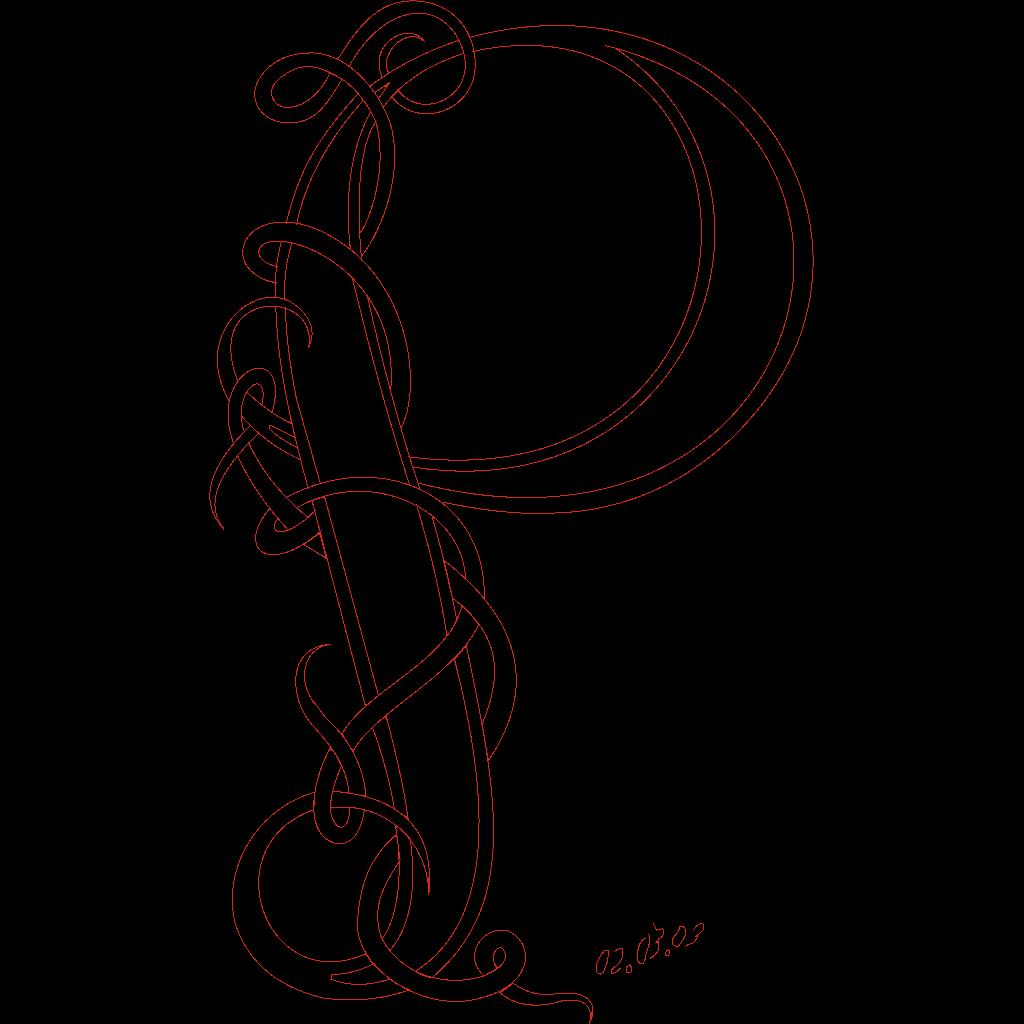Cyrillic Letter P SVG Clip arts