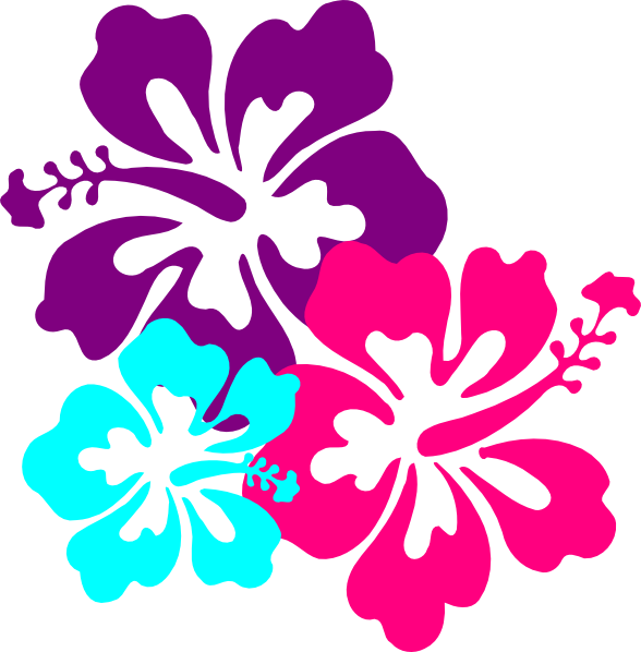 Hibiscus Flowers SVG Clip arts