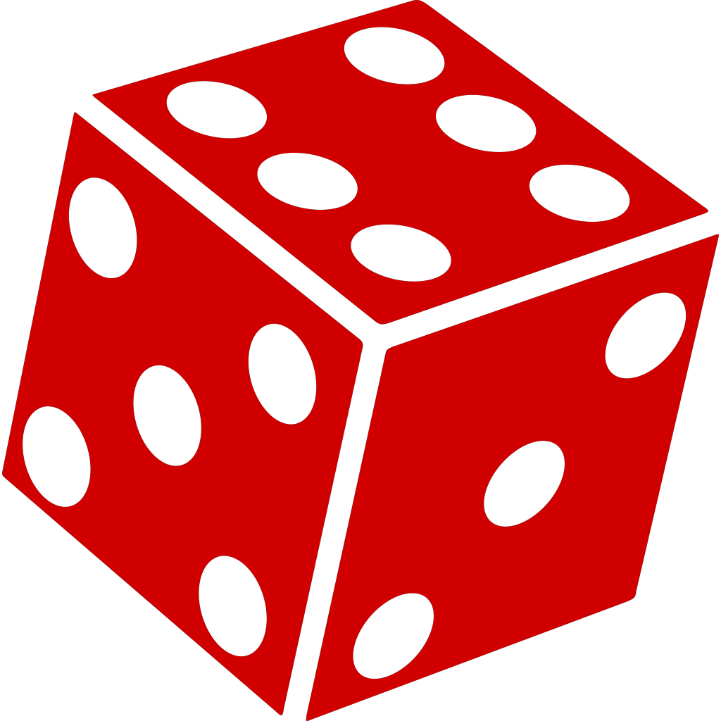 Six Sided Dice SVG Clip arts