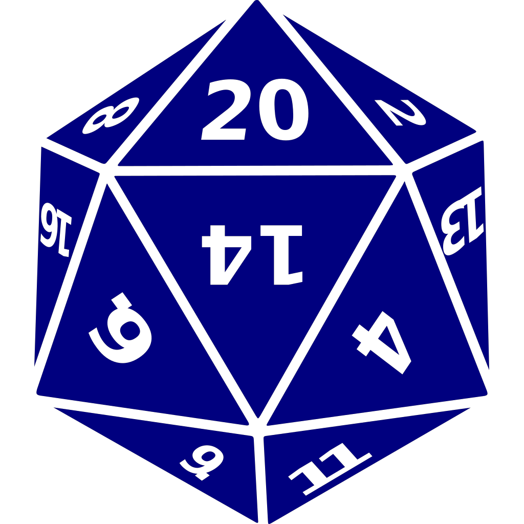 Twenty-sided Dice SVG Clip arts