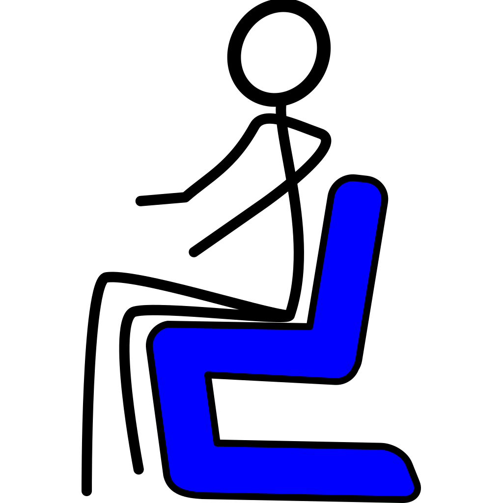Chair Blue SVG Clip arts