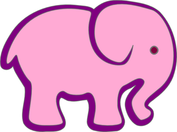 Pink And Purple Elephant SVG Clip arts