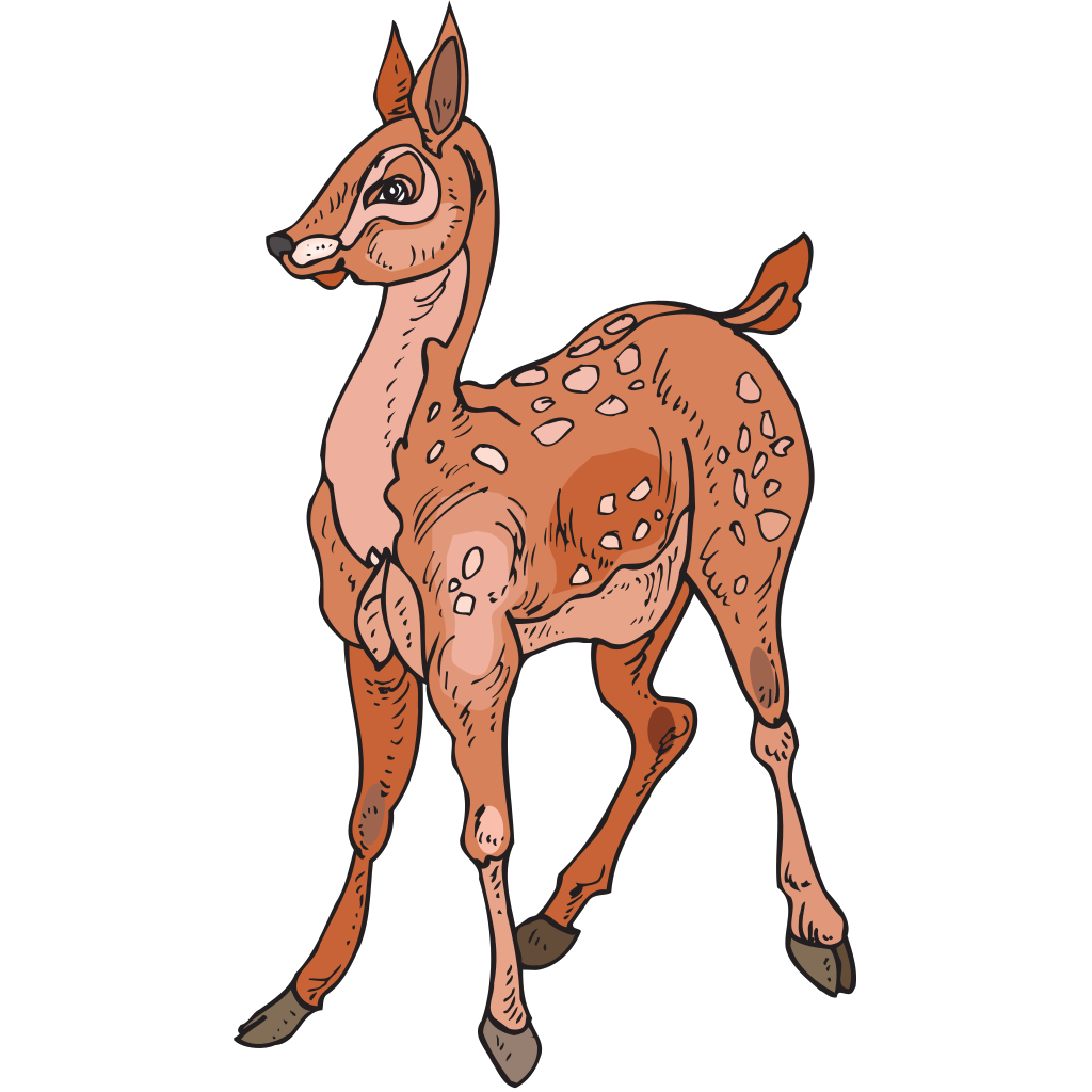 Standing Fawn SVG Clip arts