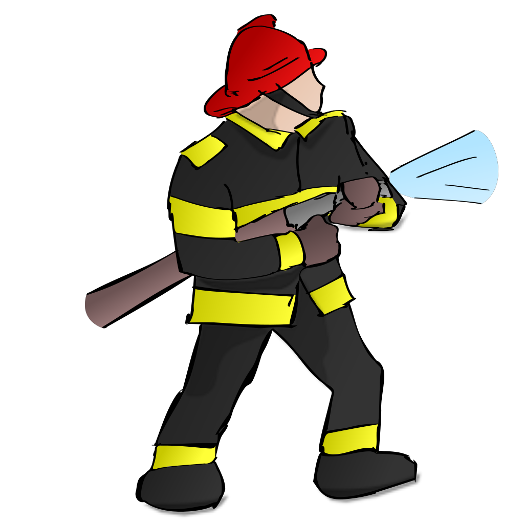 Fire Fighter SVG Clip arts