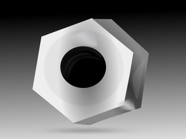 Hexagonal Fastener SVG Clip arts