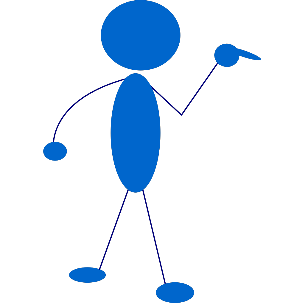 Stickman Pointing To The Right SVG Clip arts