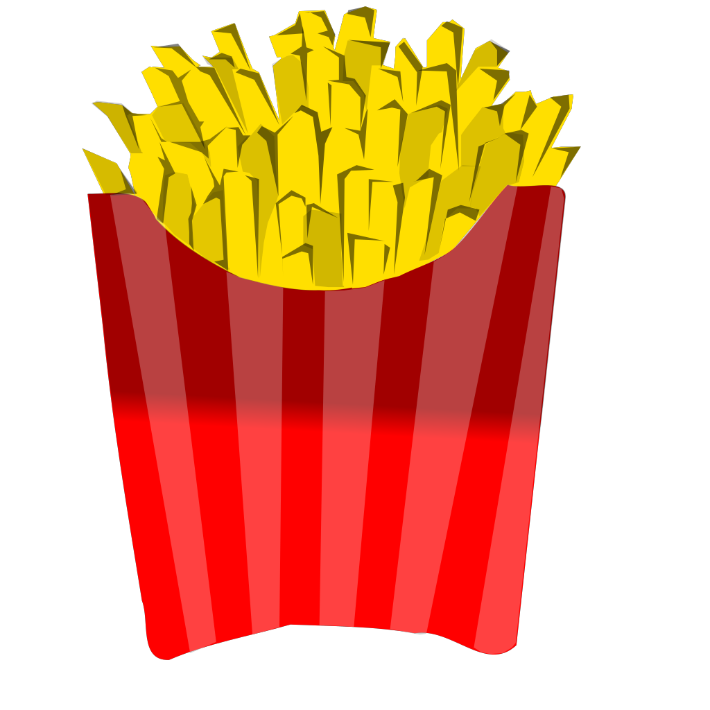 French Fries SVG Clip arts