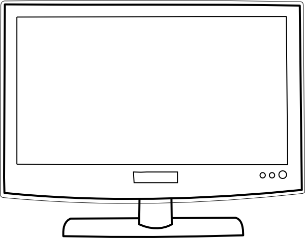 Old Television SVG Clip arts