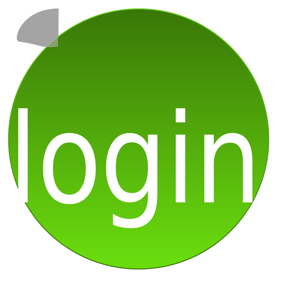 Green Login SVG Clip arts