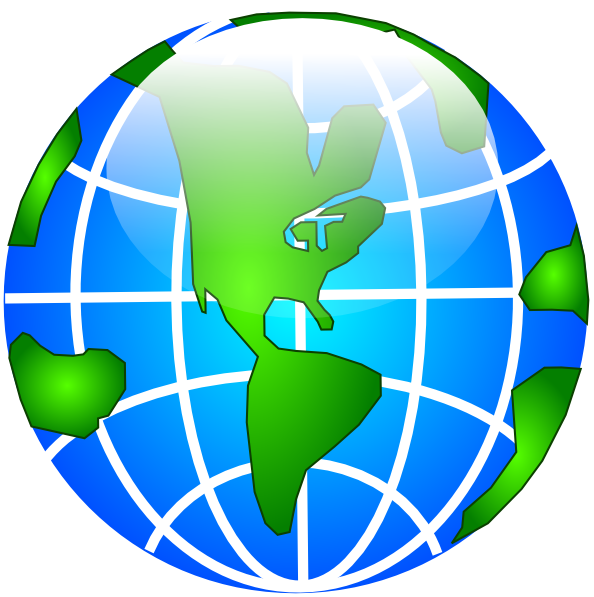 World Globe SVG Clip arts