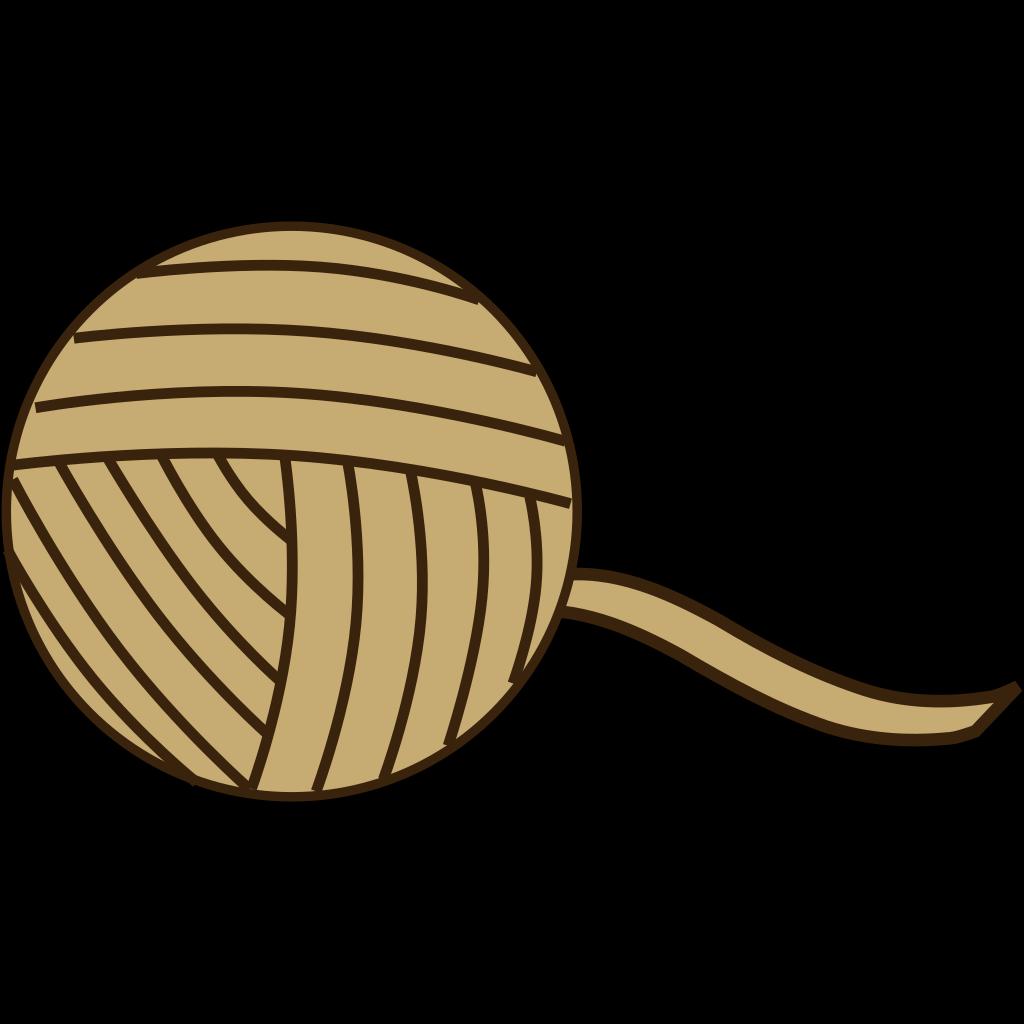 Brown Yarn SVG Clip arts