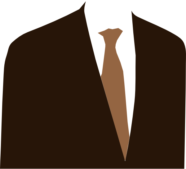 My Brown Suit SVG Clip arts