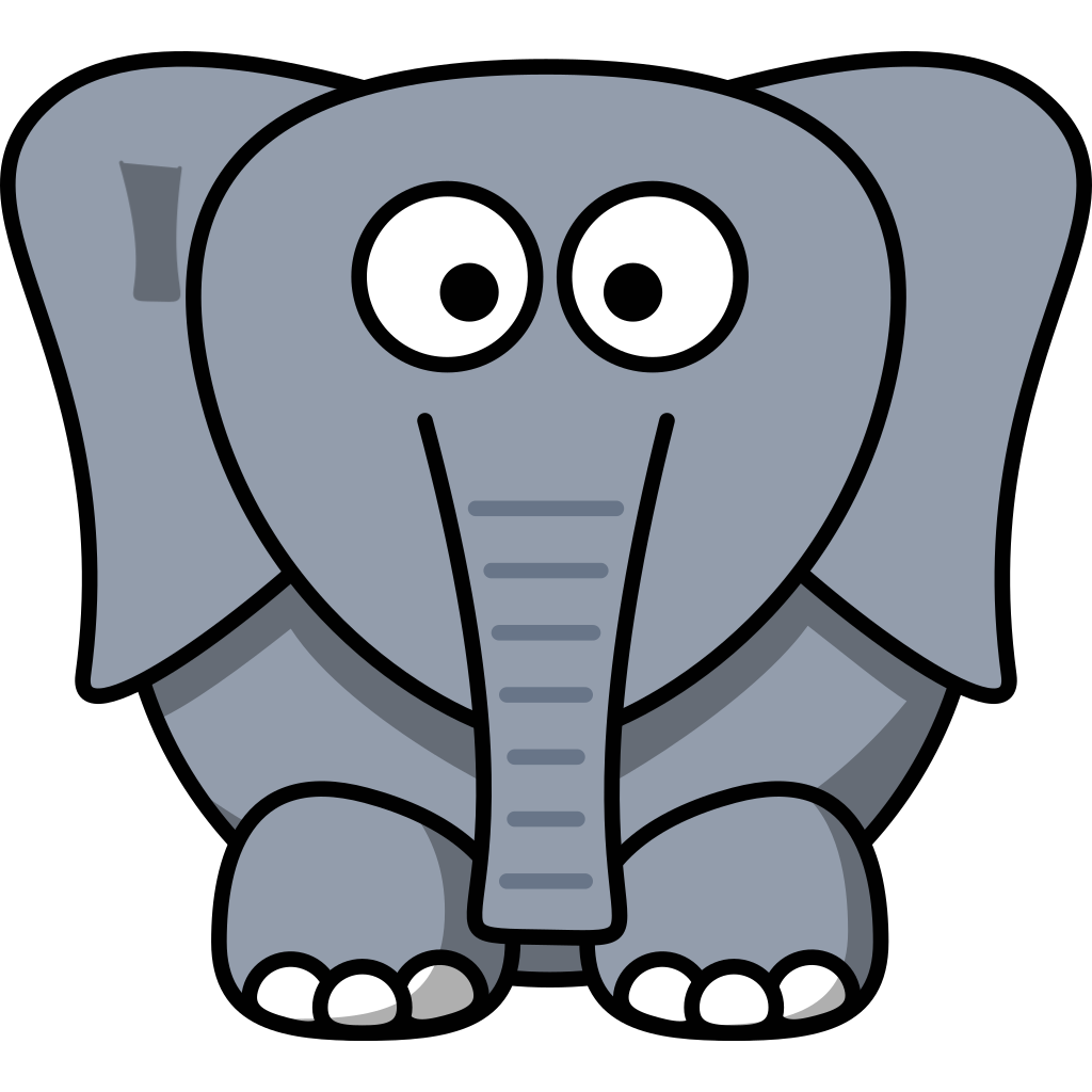 White Elephant SVG Clip arts