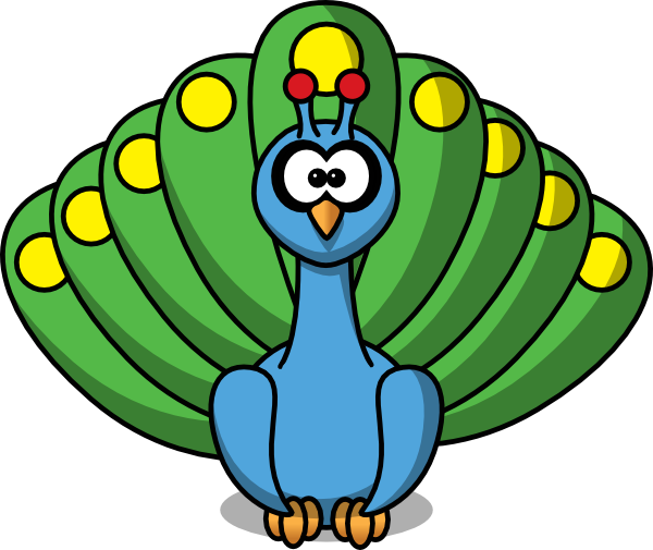 Cartoon Peacock SVG Clip arts