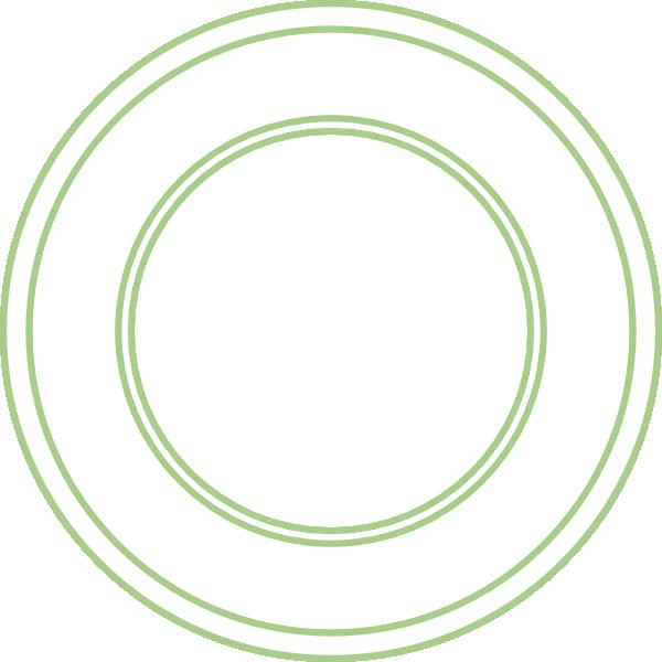 Large Basic Plate SVG Clip arts