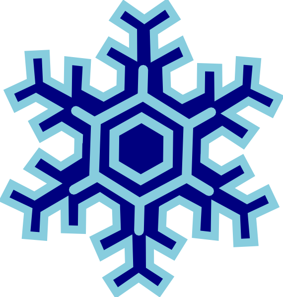 Inverted Snowflake SVG Clip arts