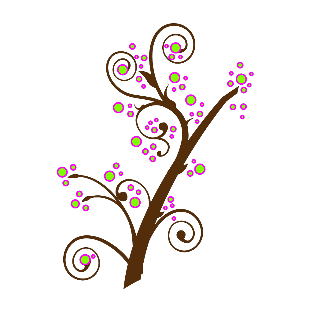 Blooming Tree Branch SVG Clip arts