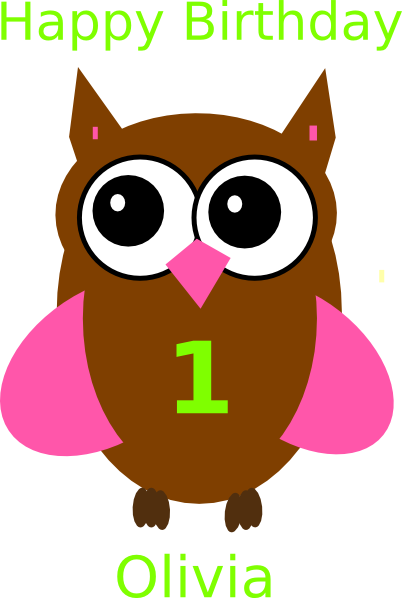 Brown Green Owl svg