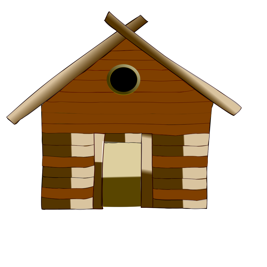 Old Style House SVG Downloads - Cartoon - Download vector clip art ...