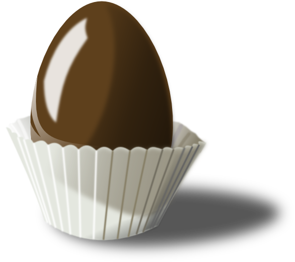 Chocolate Easter Egg SVG Clip arts