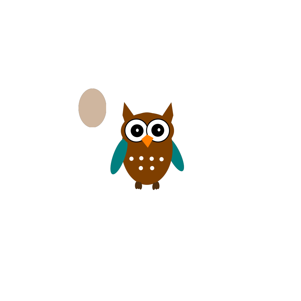 Owl Teal Brown svg