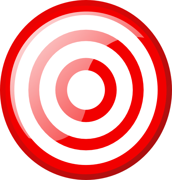 Hexagon Target SVG Clip arts