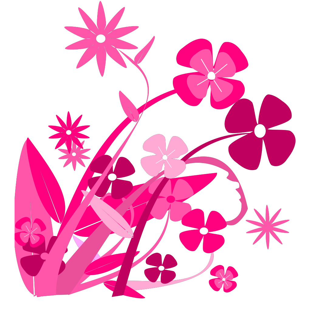 Purple Bell Flowers SVG Clip arts