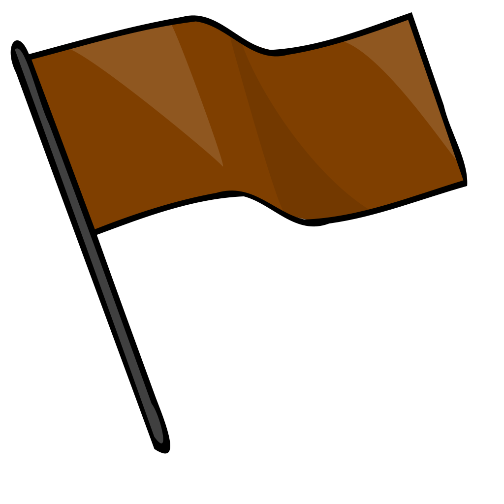Brown Flag SVG Clip arts