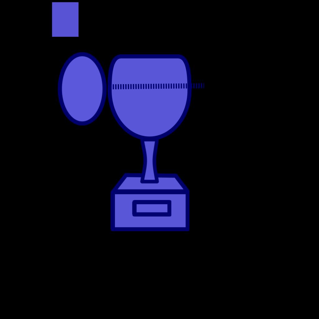 Blue Prize Cup SVG Clip arts