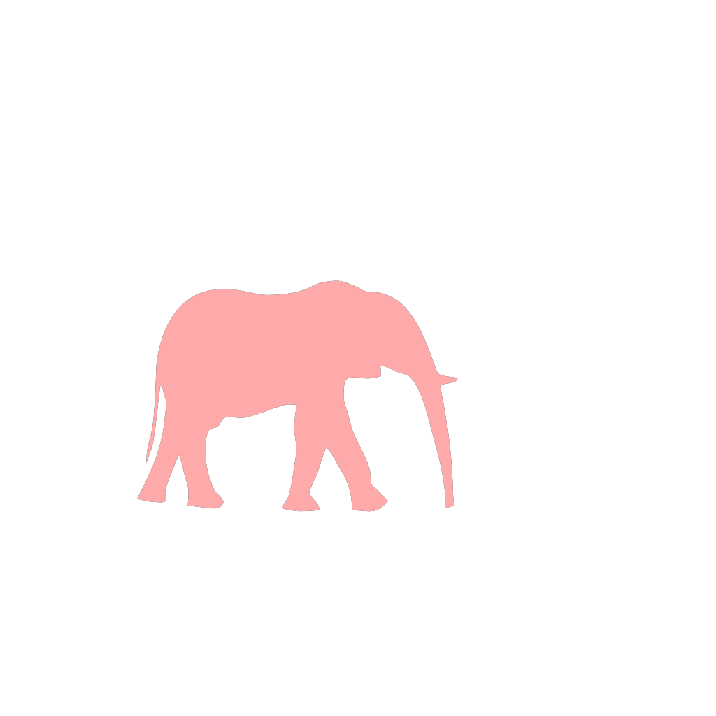 Pink On Pink Elephant SVG Clip arts