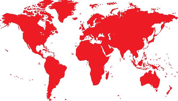 Blue World Map SVG Clip arts