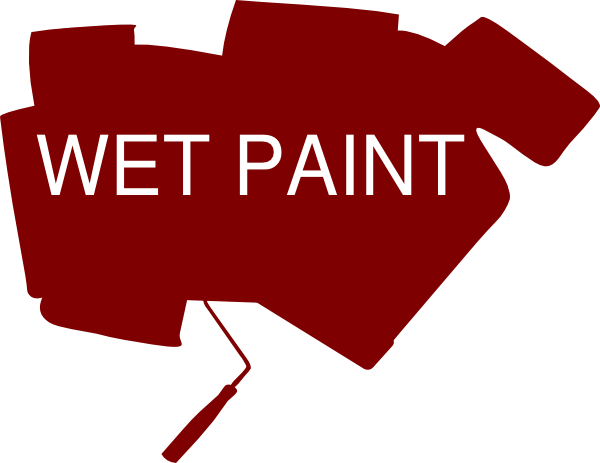Wet Paint Sign SVG Clip arts