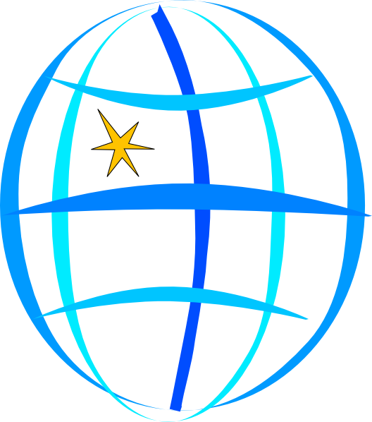 Blue Globe SVG Clip arts