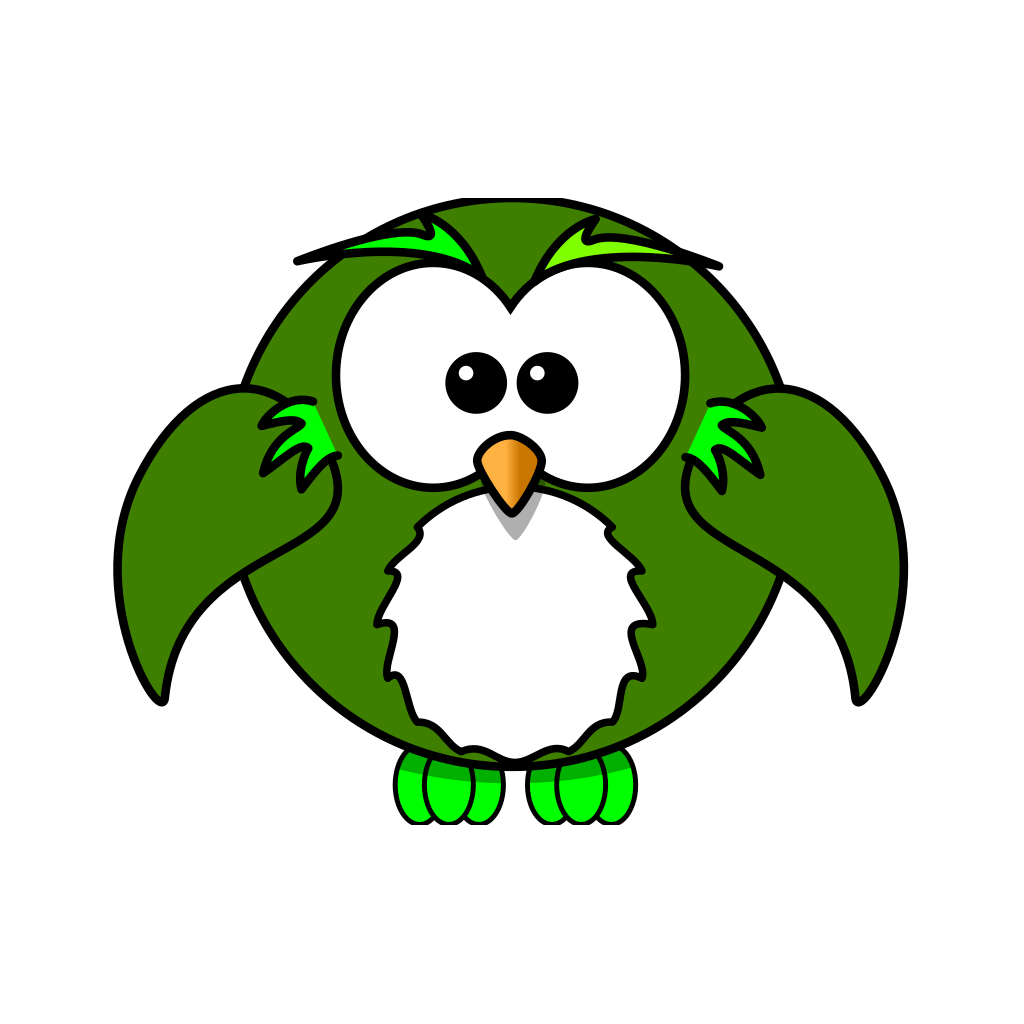 Olive Green Owl SVG Clip arts