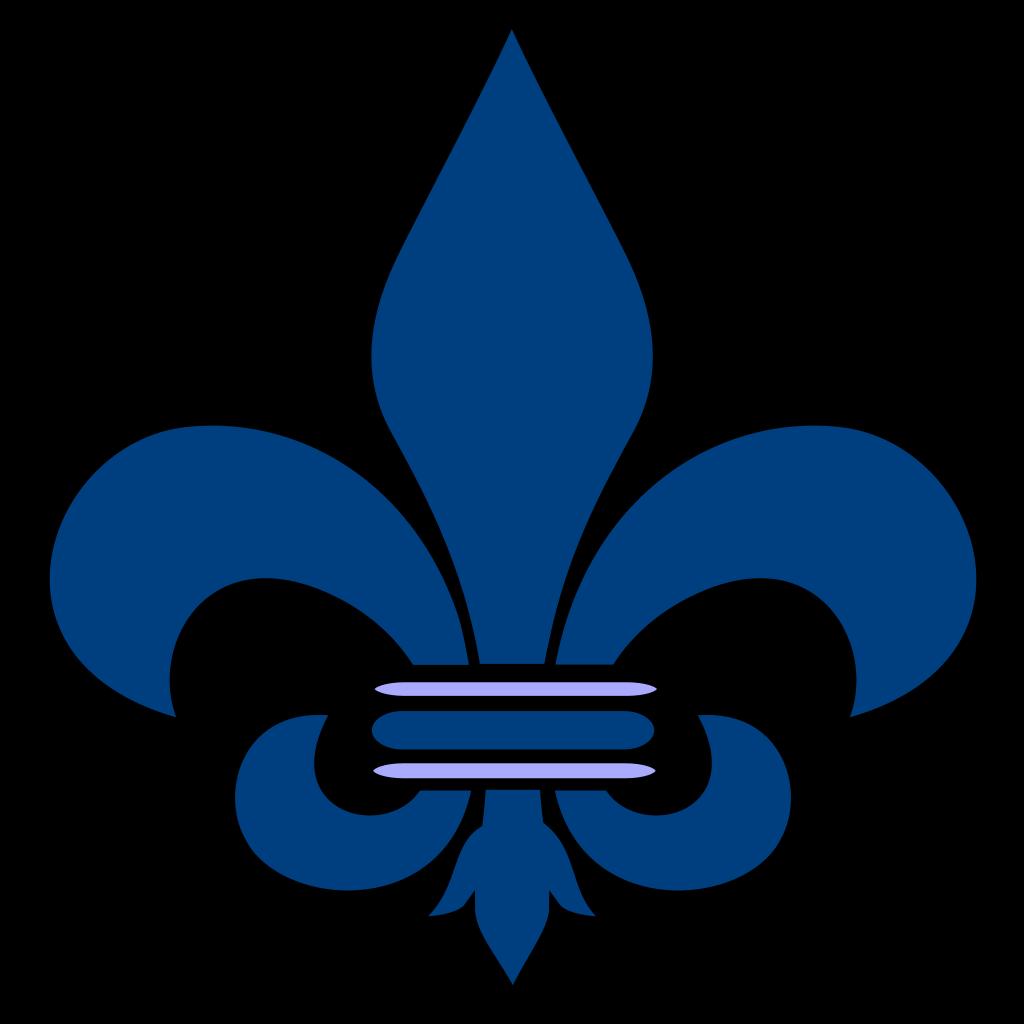 Blue Fleur De Lis svg