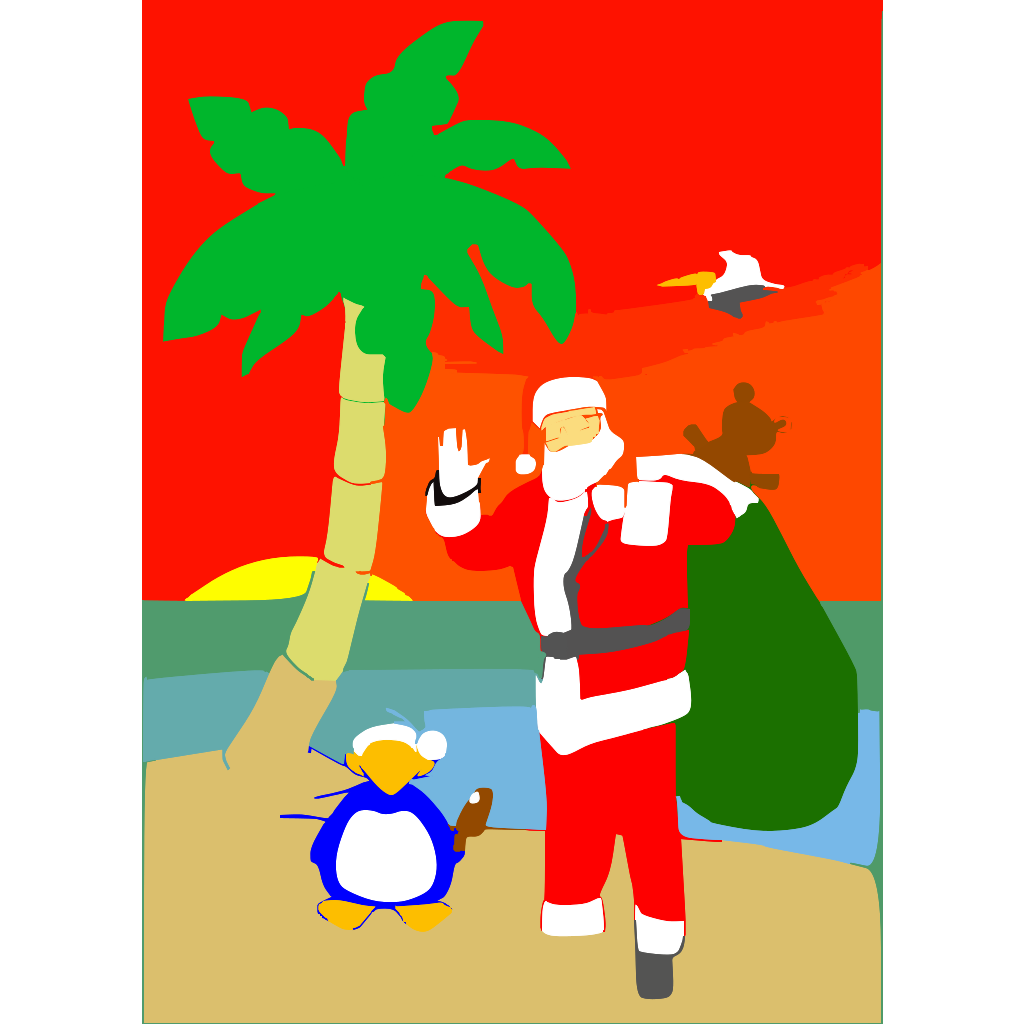 Beached Santa svg