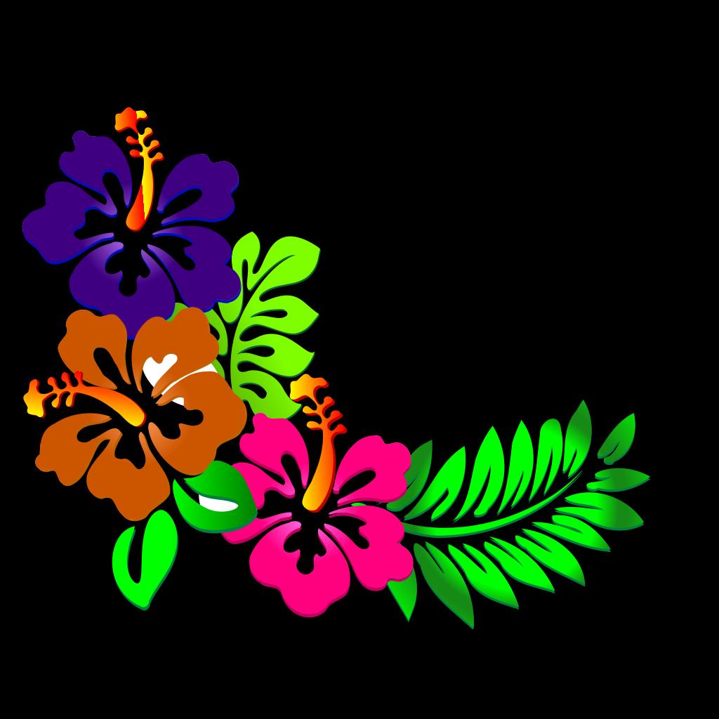 Hibiscus Corner SVG Clip arts