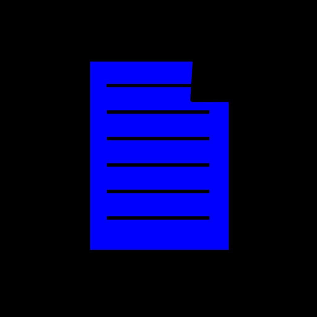 Blue Document SVG Clip arts