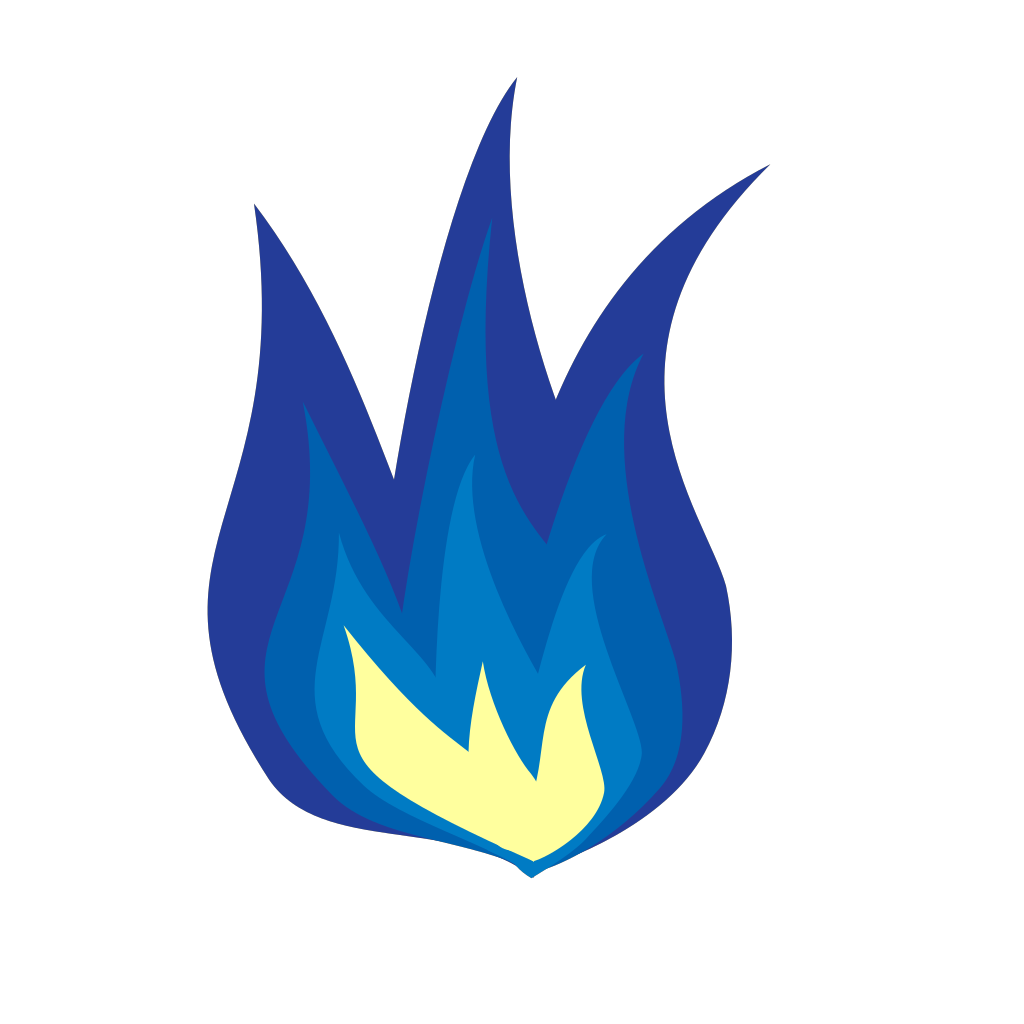 Blue Flame SVG Clip arts