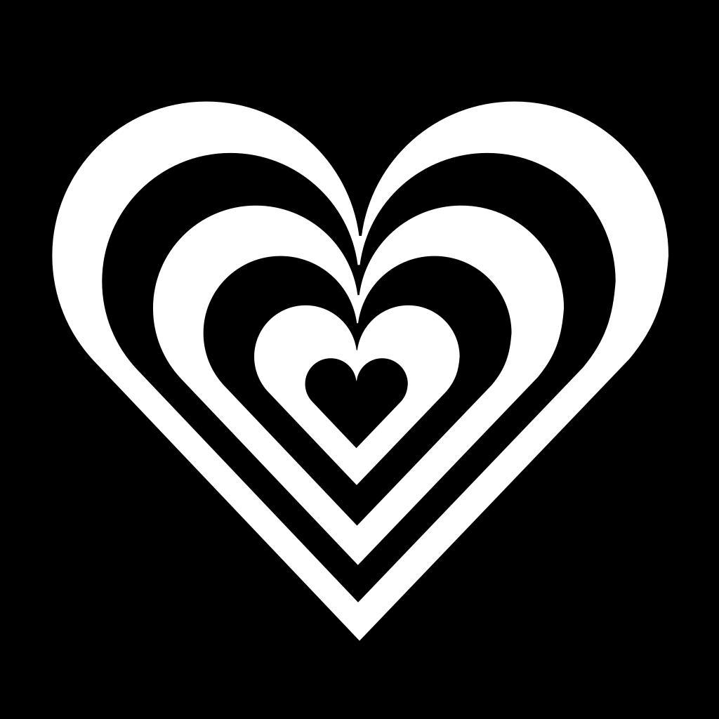 Zebra Heart SVG Clip arts
