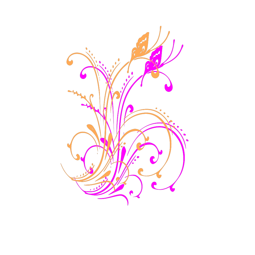 Butterfly Scroll SVG Clip arts