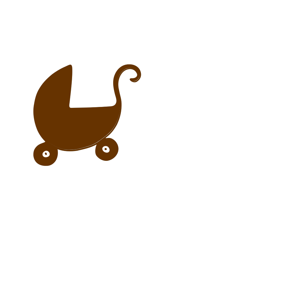 Brown Pram SVG Clip arts