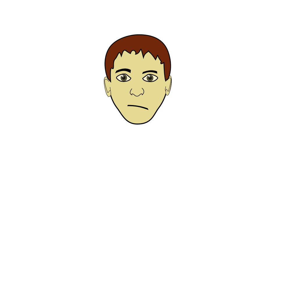 Upset Brown Haired Boy SVG Clip arts