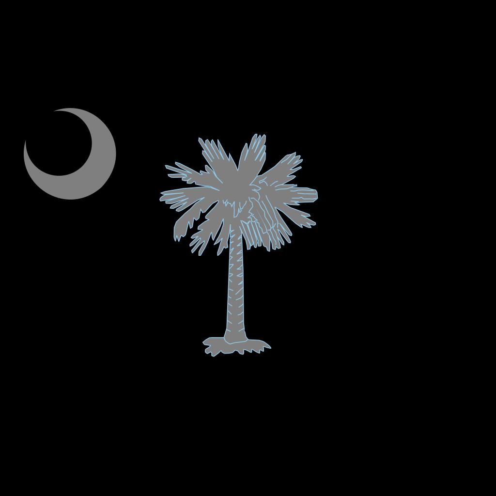 Sc Palmetto Tree - Blue SVG Clip arts