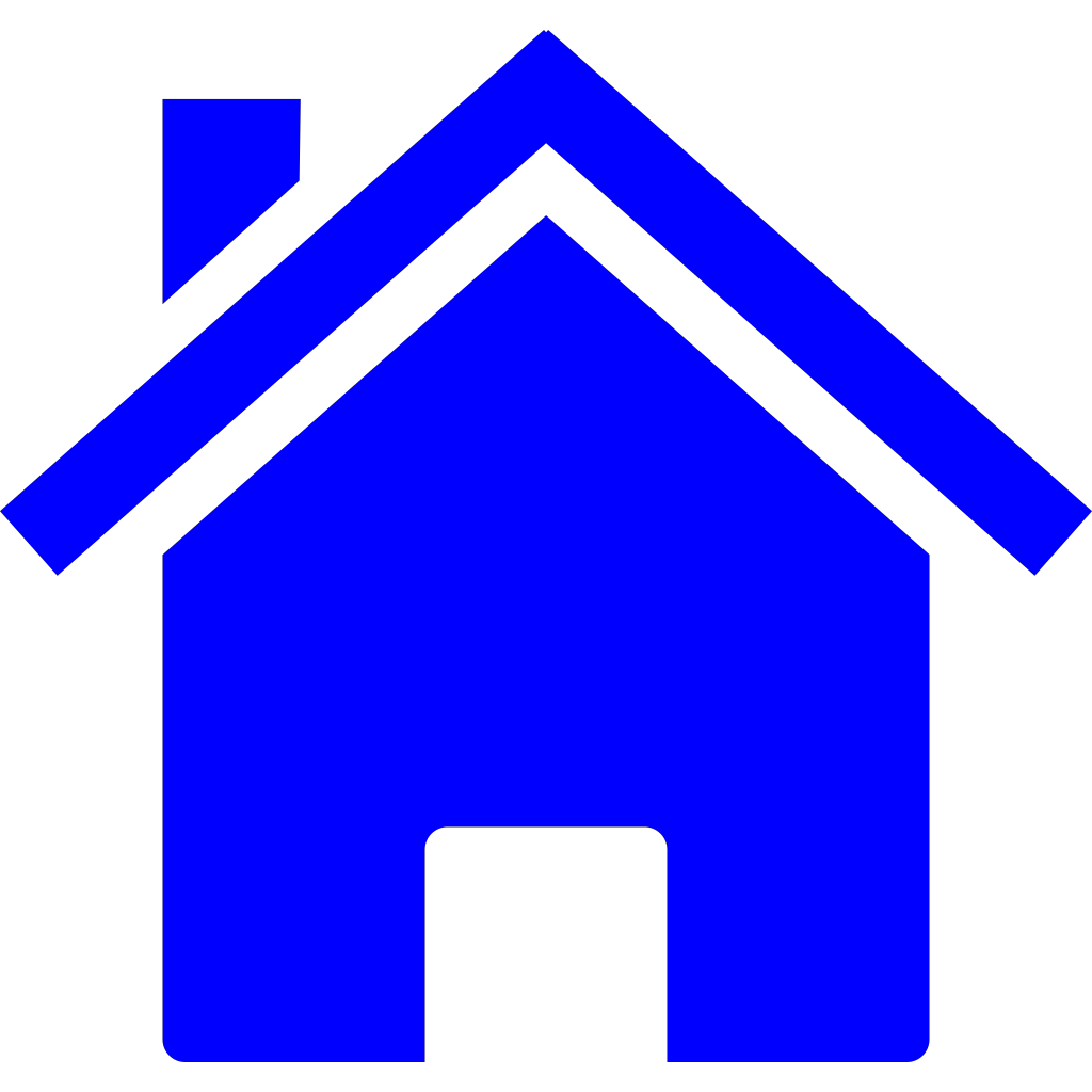 Simple blue house png svg clip art for web download for Png home designs