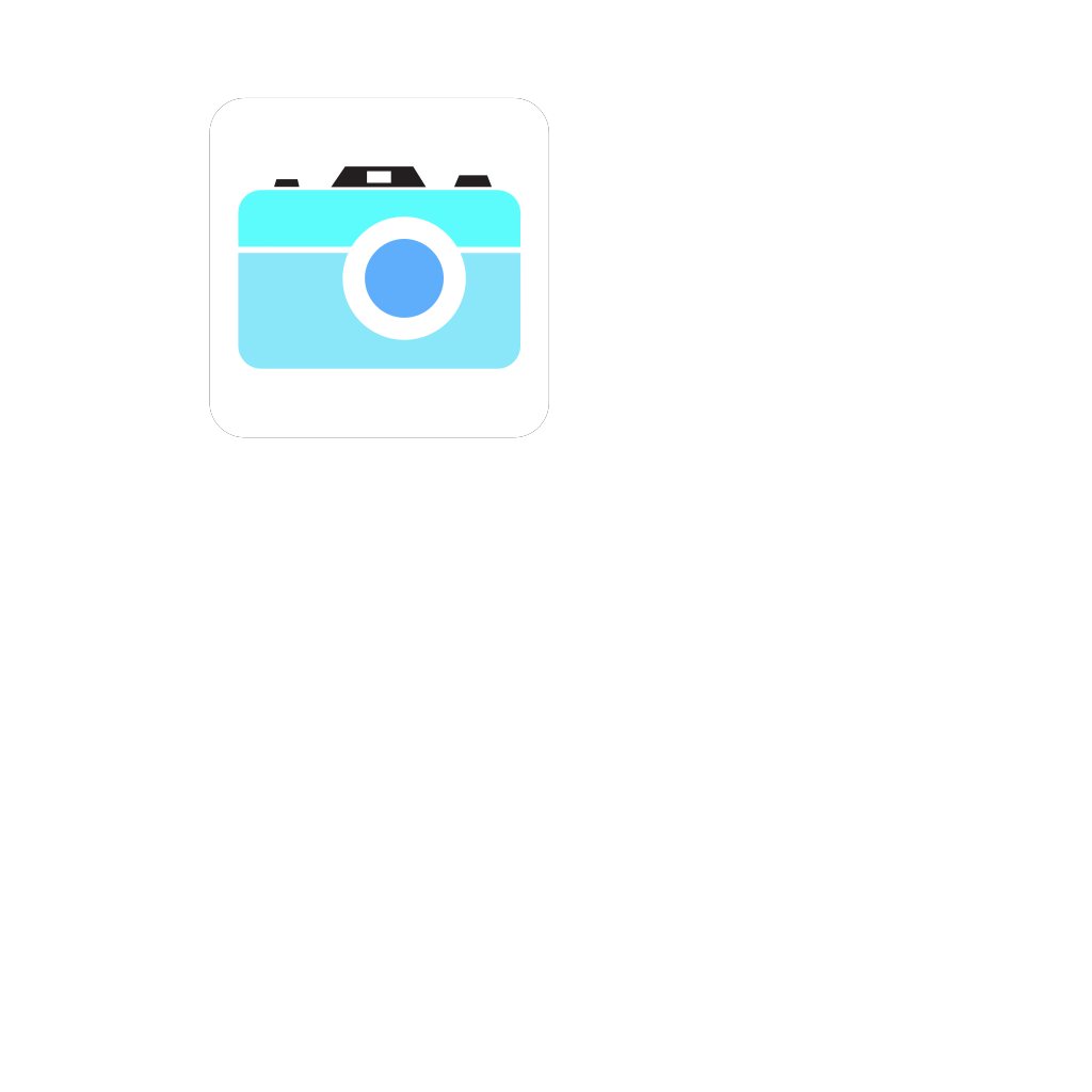 Blue Camera Icon SVG Clip arts