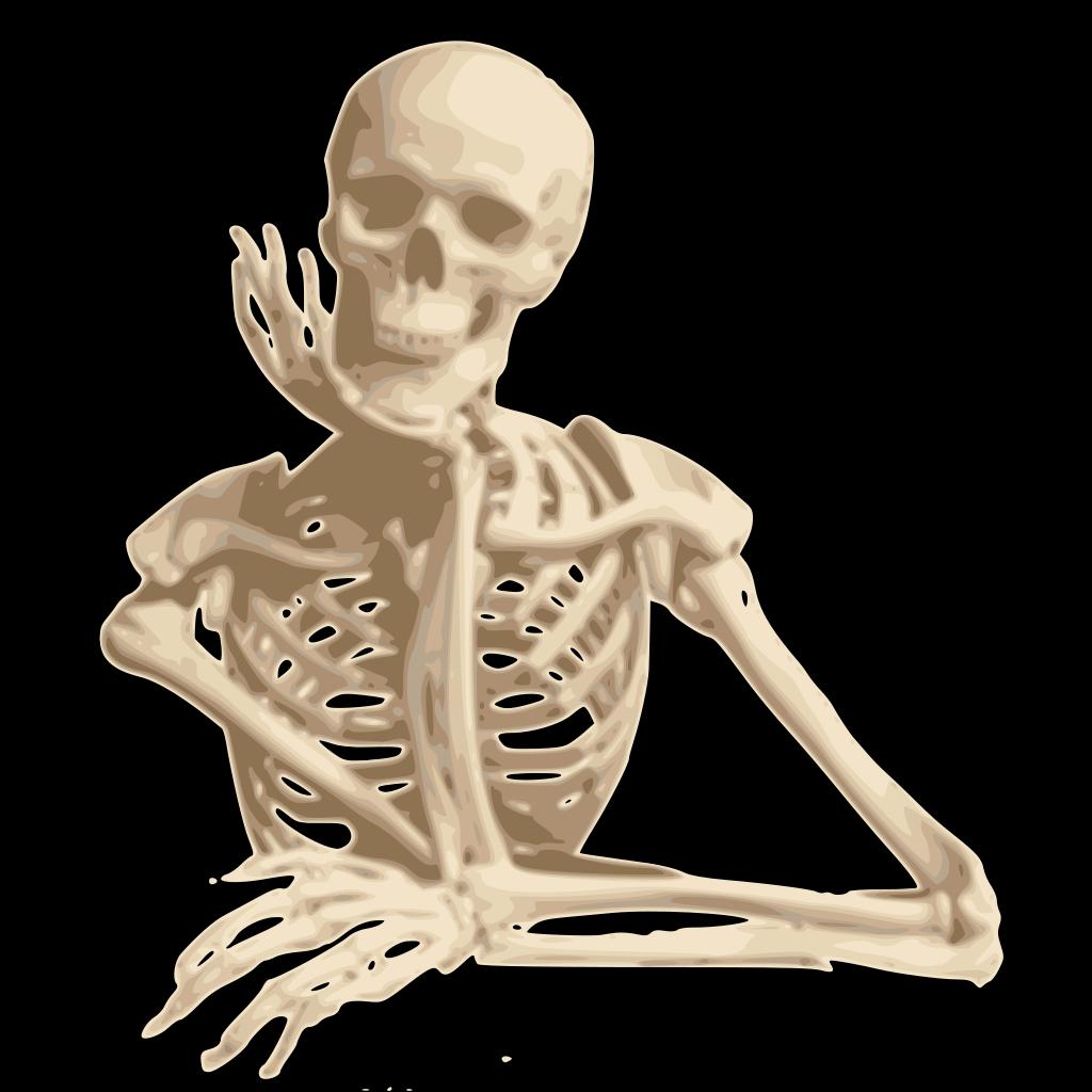 Skeleton Friend SVG Clip arts