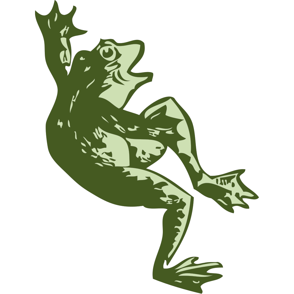 Dancing Frog SVG Clip arts